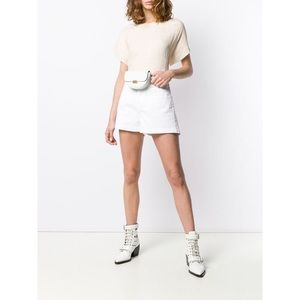 NWT Moncler Women's White Denim Shorts
